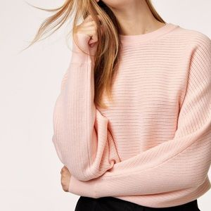 Aritzia | Wilfred Free Lolan ribbed poncho sweater